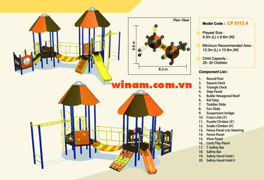 Khu vui chơi liên hoàn - WINPLAY-MC-CF-0112-A