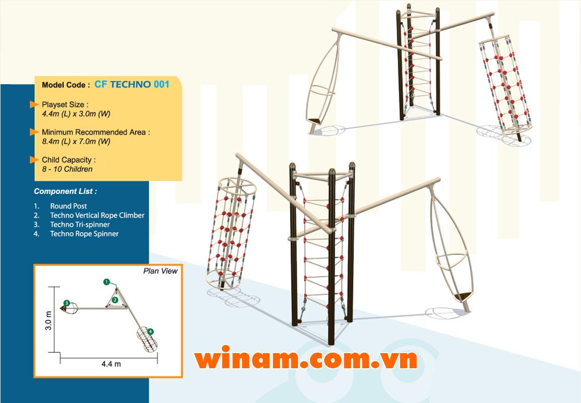 Thiết bị vận động cho trẻ - WINPLAY-MC-CF-TECHNO-001