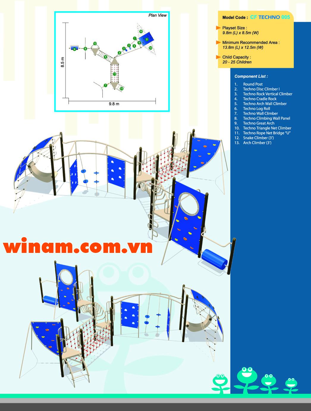 Thiết bị vận động cho trẻ - WINPLAY-MC-CF-TECHNO-005