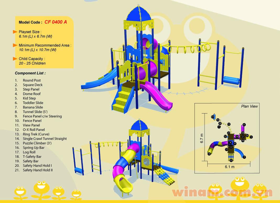 Khu vui chơi liên hoàn - WINPLAY-MC-CF-0400-A