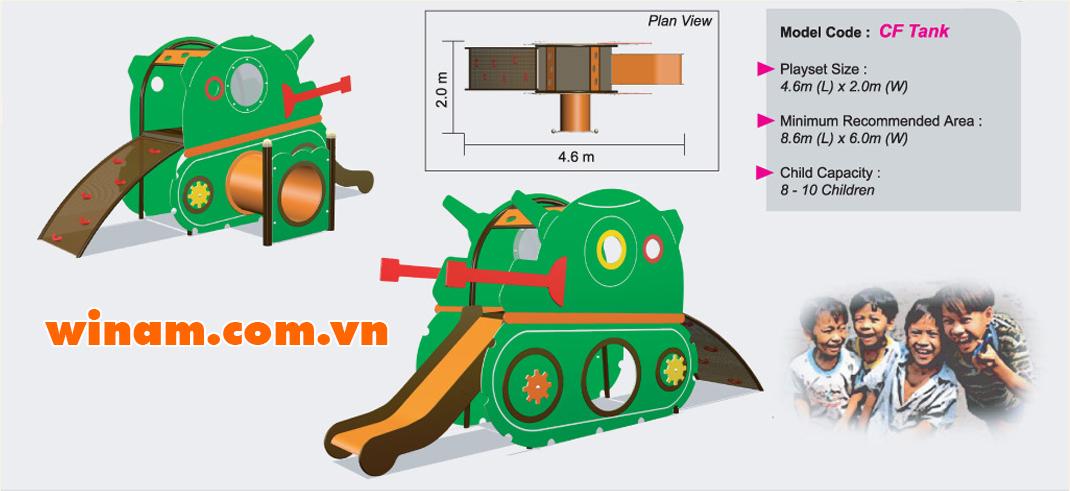 Khu vui chơi liên hoàn - WINPLAY-MC-CF-Tank