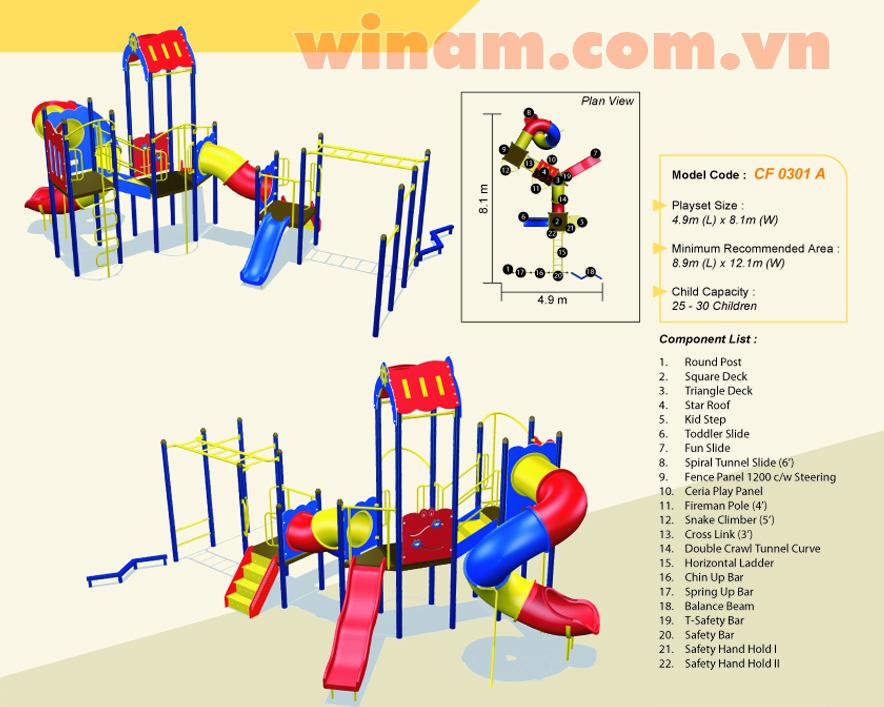 Khu vui chơi liên hoàn - WINPLAY-MC-CF-0301-A