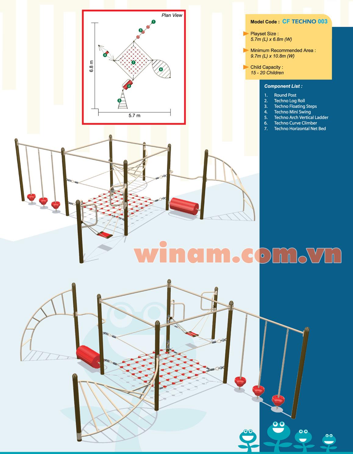 Thiết bị vận động cho trẻ - WINPLAY-MC-CF-TECHNO-003