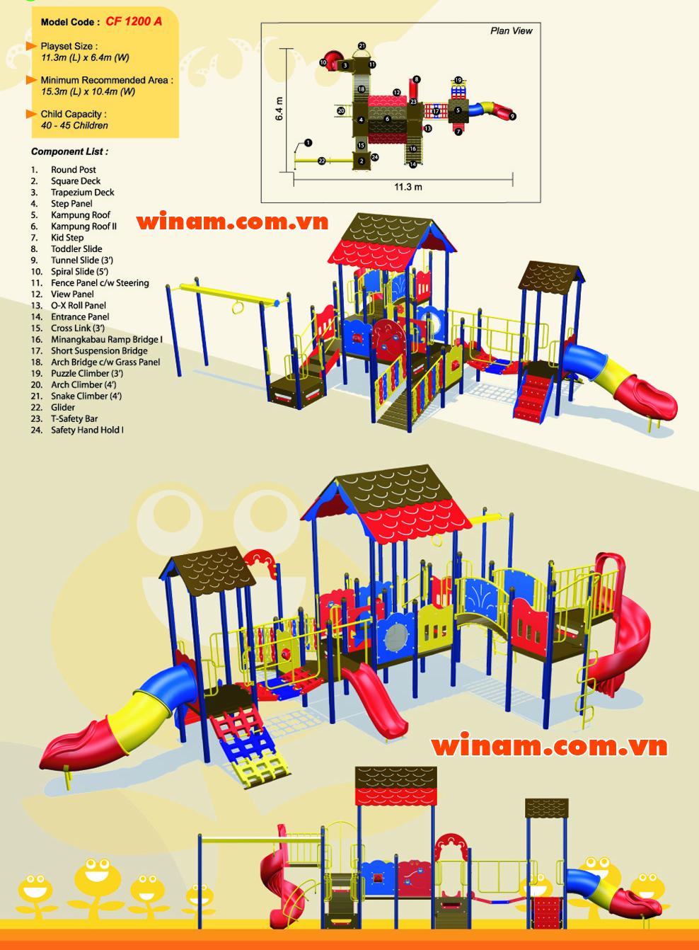 Khu vui chơi liên hoàn - WINPLAY-MC-CF-1200-A