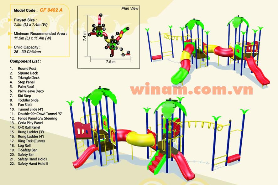 Khu vui chơi liên hoàn - WINPLAY-MC-CF-0402-A