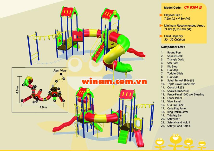 Khu vui chơi liên hoàn - WINPLAY-MC-CF-0304-B