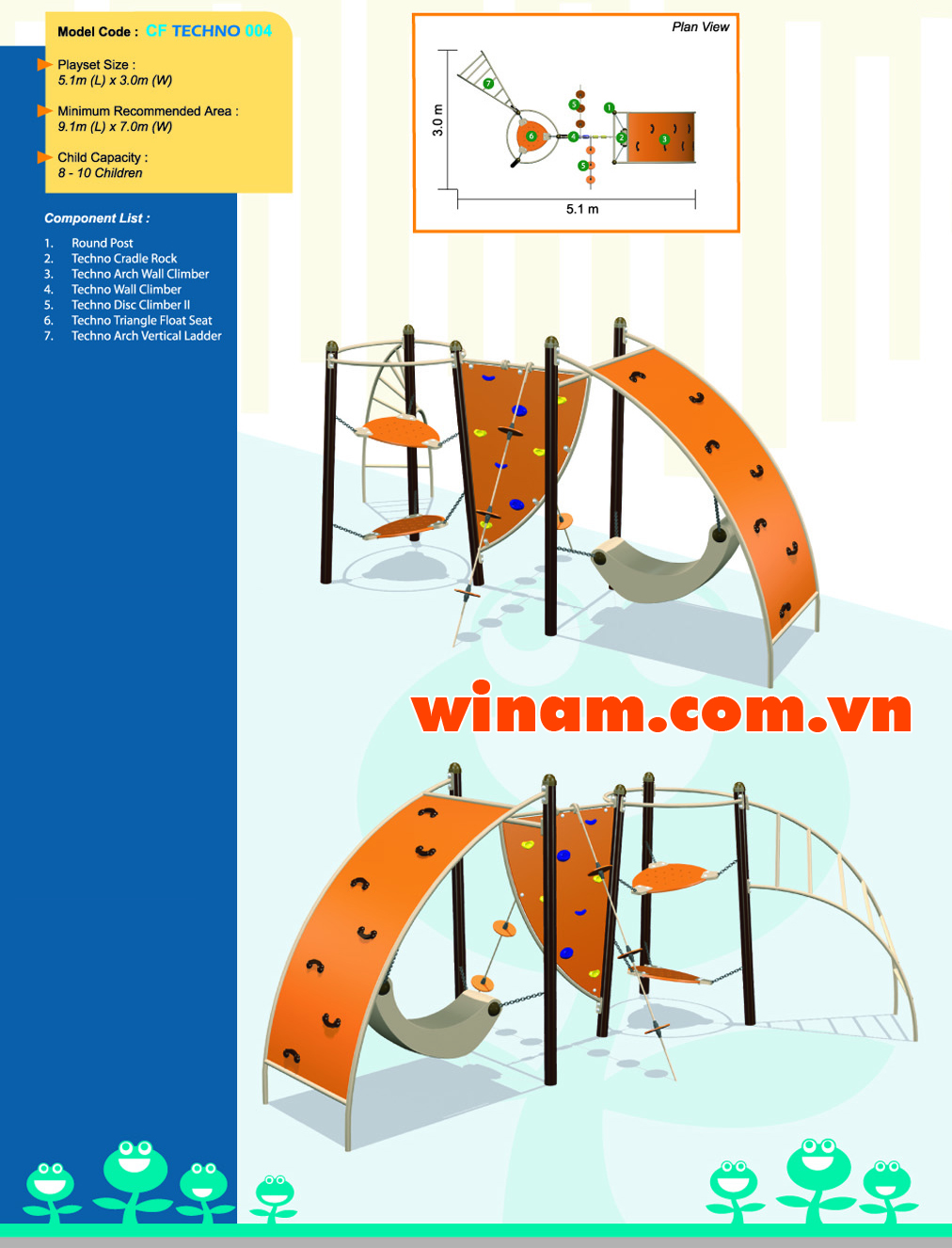 Thiết bị vận động cho trẻ - WINPLAY-MC-CF-TECHNO-004