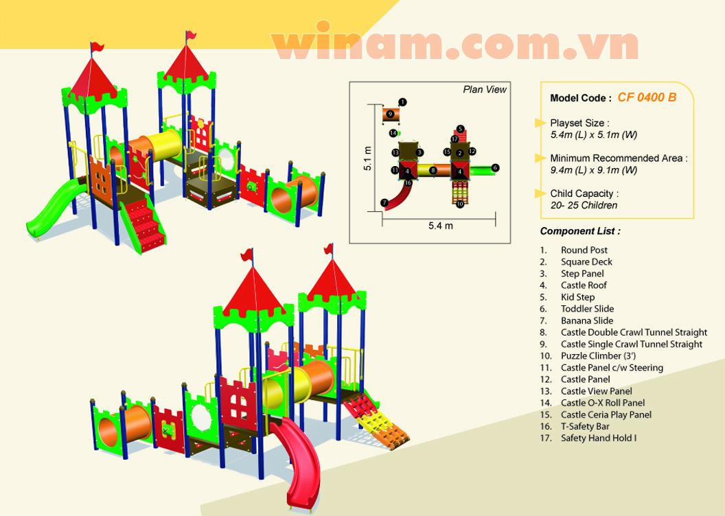 Khu vui chơi liên hoàn - WINPLAY-MC-CF-0400-B