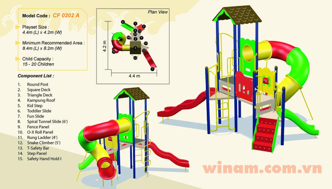 Khu vui chơi liên hoàn - WINPLAY-MC-CF-0202-A