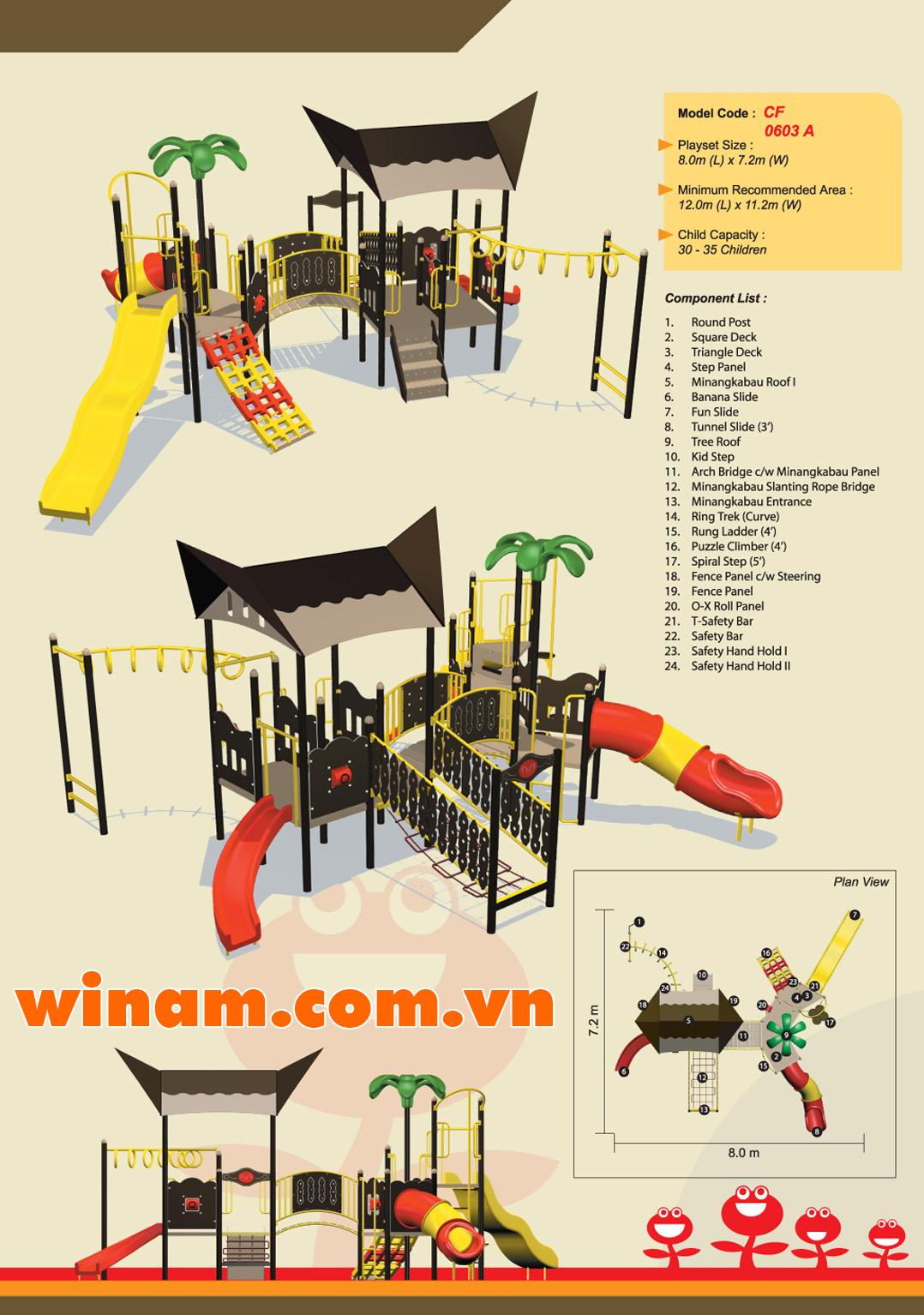 Khu vui chơi liên hoàn - WINPLAY-MC-CF-0603-A