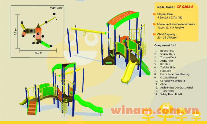 Khu vui chơi liên hoàn - WINPLAY-MC-CF-0203-A