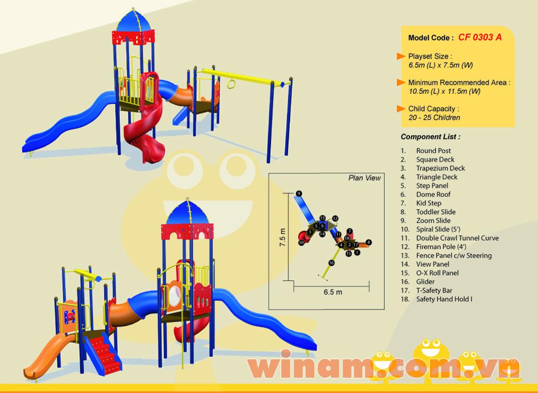 Khu vui chơi liên hoàn - WINPLAY-MC-CF-0303-A
